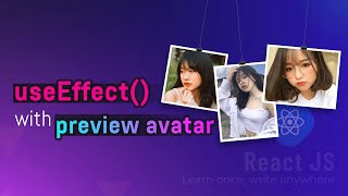 useEffect() with preview avatar
